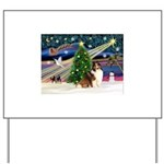 XmasMagic/Sheltie (7R) Yard Sign