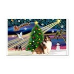 XmasMagic/Sheltie (7R) Rectangle Car Magnet