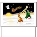 Night Flight/Shiba Inu Yard Sign