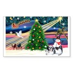 XmasMagic/Shih Tzu Sticker (Rectangle)