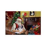 Santa's Shih Tzu (#1) Rectangle Magnet (10 pack)