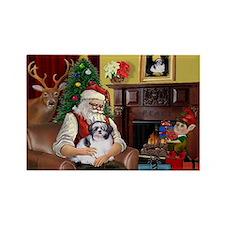 Santa's Shih Tzu (#1) Rectangle Magnet
