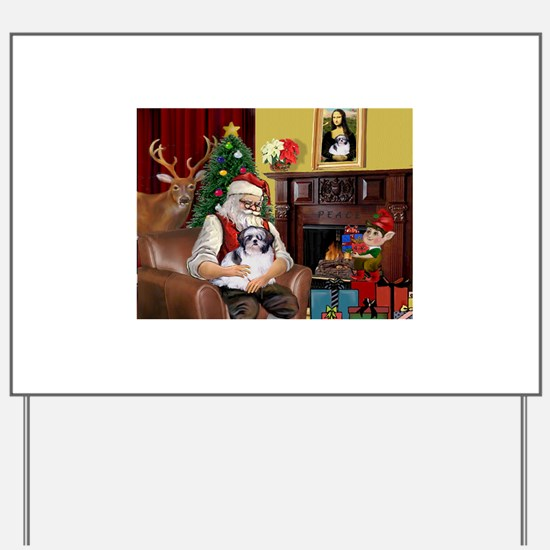 Santa's Shih Tzu (#1) Yard Sign