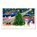 XmasMagic/Shih TzuT Sticker (Rectangle 10 pk)