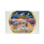 XmasStar/Shih Tzu Rectangle Magnet (10 pack)