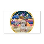 XmasStar/Shih Tzu Rectangle Car Magnet