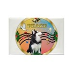 XmasMusic 3/Sib Husky Rectangle Magnet (10 pack)