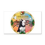 XmasMusic 3/Sib Husky Rectangle Car Magnet