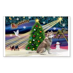 Xmas Magic & Red Husky Decal