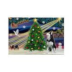 XmasMagic/Siberian Husky Rectangle Magnet (10 pack
