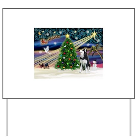 XmasMagic/Siberian Husky Yard Sign