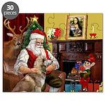 Santa's Red Husky Puzzle