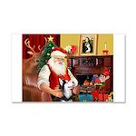 Santa's Sib Husky Car Magnet 20 x 12