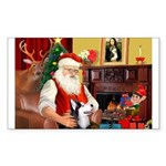 Santa's Sib Husky Sticker (Rectangle 50 pk)