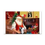 Santa's Sib Husky Rectangle Car Magnet