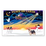 XmasSunrise/ Silky T Sticker (Rectangle 10 pk)