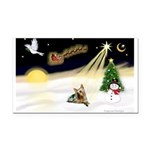Night Flight/ Silky Ter 14 Rectangle Car Magnet