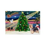 XmasMagic/Silky Terrier Rectangle Magnet
