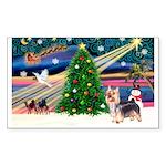 XmasMagic/Silky Terrier Sticker (Rectangle 50 pk)