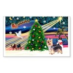 XmasMagic/Silky Terrier Sticker (Rectangle)