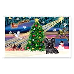 Xmas Magic & Skye Terrier Decal