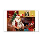 Santa/Tibetan Spaniel Car Magnet 20 x 12