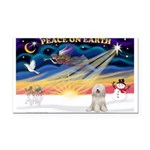 XmasSunrise/Tibet Ter Rectangle Car Magnet