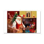 Santa's Vizsla Car Magnet 20 x 12