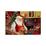 Santa's Vizsla Rectangle Magnet