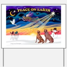 XmasSunrise/2 Weimaraners Yard Sign