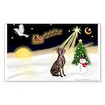 Night Flight/Weimaraner #2 Sticker (Rectangle 50 p