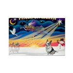 XmasSunrise/Corgi (BM) Rectangle Magnet (10 pack)