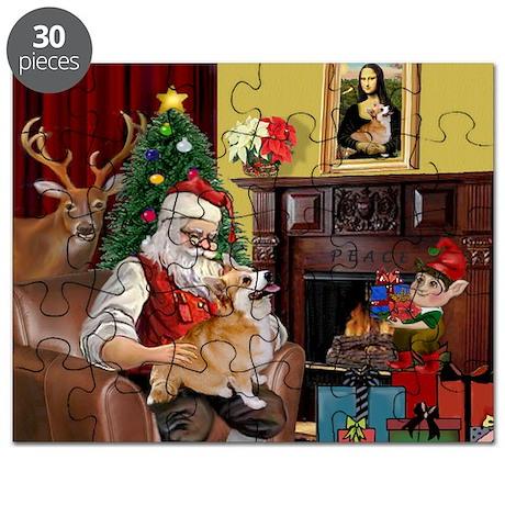 Santa / Welsh Corgi Puzzle