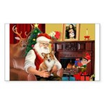 Santa's Corgi (#3P) Sticker (Rectangle 10 pk)