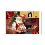 Santa's Corgi (#3P) Rectangle Car Magnet