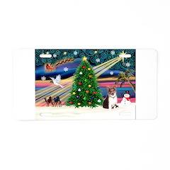 Xmas Magic & Corgi Aluminum License Plate