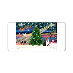 Xmas Magic & Corgi Aluminum License Plate