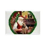 Santa's Welsh T Rectangle Magnet