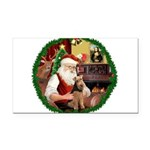 Santa's Welsh T Rectangle Car Magnet