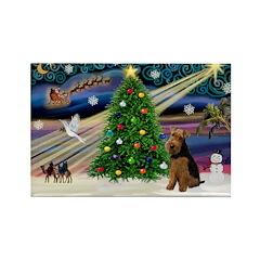 XmasMagic/Welsh Terrier Rectangle Magnet (10 pack)