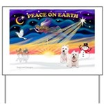 XmasSunrise/2 Westies Yard Sign