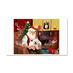 Santa's Westie Car Magnet 20 x 12