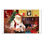 Santa's Westie Sticker (Rectangle)