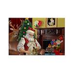 Santa's Wheaten (#7) Rectangle Magnet (10 pack)