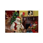 Santa's Wheaten (#7) Rectangle Magnet