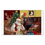 Santa's Wheaten (#7) Sticker (Rectangle 50 pk)