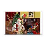 Santa's Wheaten (#7) Rectangle Car Magnet