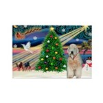 XmasMagic/Wheaten (#5) Rectangle Magnet