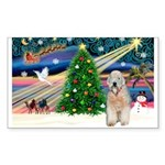 XmasMagic/Wheaten (#5) Sticker (Rectangle 10 pk)