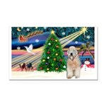XmasMagic/Wheaten (#5) Rectangle Car Magnet